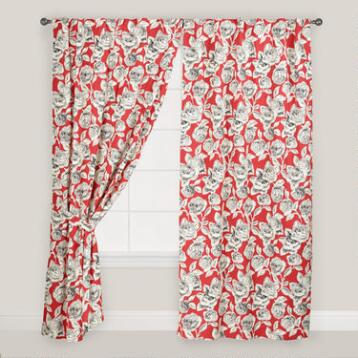 Floral Concealed Tab Top Rosalie Curtains, Set of 2